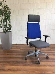 Drabert Salida Bürodrehstuhl grau blau