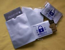 RFID Passport and Credit Card Blocking Sleeves 50 pc Bundle Prevent Travel Theft