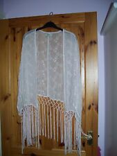 Gorgeous shell pink long fringed evening top,size M(see details).Never worn