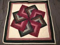 Amish (Lancaster, Pa) Handmade Wall Hanger Quilt 27x27