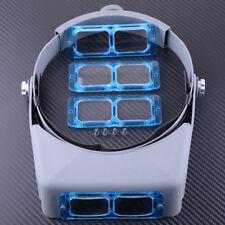 Tragbarer Kopflupe Optivisor Augenlupe Uhren Reparatur Schweiß Visier mit 4 lens