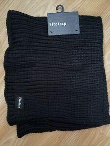 Firetrap New Mens Black Snood Scarf RRP £19.99