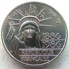 France 1986 Statue of Liberty 100 Francs Piedfort Silver Coin,UNC