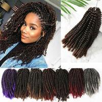 3 Packs Spring Twist Ombre Crochet Braids Kanekalon Braiding Hair As Human Soft