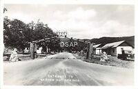 California Ca Postcard Real Photo RPPC c1940s WARNER SPRINGS Entrance Arch