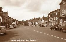 High Street West Malling RP pc used 1950/60's Sweetman Ref A31