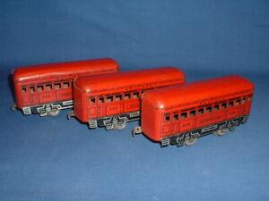 Marx O-Gauge Railroad Train Passenger Cars (3)