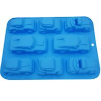 8 Cavity Large Racing Car Silicone Mold Cake Chocolate Fondant Jelly Candy Mould