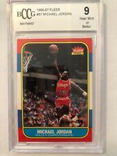 1986 Fleer Michael Jordan Rookie RC #57 BCCG 9 🔥🔥🔥