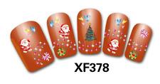 Nail art Stickers bijoux d'ongles: Pères Noel - sapins - noeuds - couronnes
