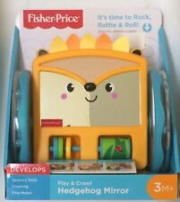 Nib Fisher-Price Play & Crawl Hedgehog Mirror Tummy Time & Crawling Baby Toy