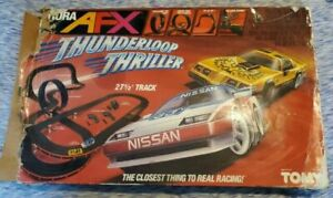 Vintage Tomy Aurora AFX Joblot Used 70 bits of track Pieces 2x Thunderloop sets