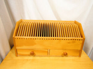 Wooden Mail Organizer and Bill Sorter - real wood, not the fake stuff
