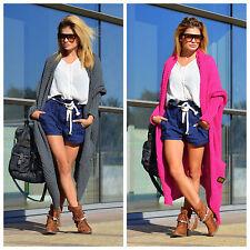 Damen Strickjacke Pullover Cardigan Boho Taschen NEU 36 38 40  S M L