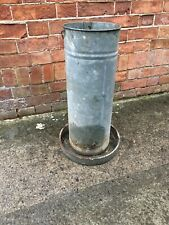 OLD VINTAGE GALVANISED ZINC CHICKEN FEEDER Large 2 Ft Tall Quirky Plant Pot