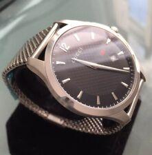 Mens Genuine Gucci Swiss Designer Watch Black Mesh G-timeless YA126308 126.3
