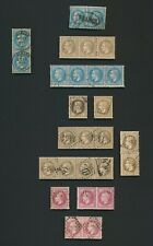 FRANCE STAMPS 1863-1870 NAPOLEON ANNOTATED STUDY INC FRANCA RARE PAIR