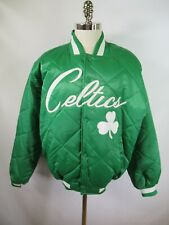 F2297 VTG Men'S MAJESTIC Boston Celtics NBA Basketball Quilted Jacket L