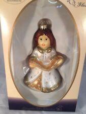 Goebel Weihnacht Mouth Blown Glass Angel W/Sheet Music Christmas Tree Ornament
