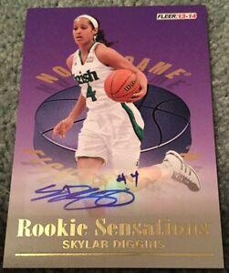 2013-14 Retro Skylar Diggins Rookie Sensations Autograph WNBA Norte Dame Irish