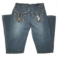 Baby Phat Girls Youth Size 16/28 Blue Jeans Cat Pocket Design