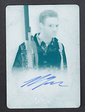 THE WALKING DEAD SURVIVAL BOX Topps PRINTING PLATE AUTOGRAPH CARD ROSS MARQUAND