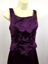 Modern Maids Collection Size 6 Eggplant Floor Length A-Line Wedding Prom Party