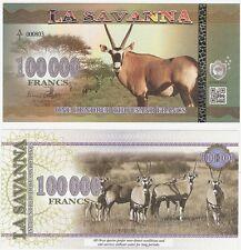 La Sabana 100000 francos 2016 nuevo espécimen Billete De Fantasía