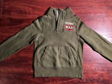ABERCROMBIE Youth Boys Olive green Muscle Sweater Size Medium