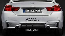 SPORT Vinyl Decal racing sport car bumper logo sticker BLACK