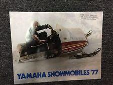 Original 1977 Yamaha Full Line Snowmobile Brochure
