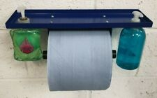 Blue Roll Paper Holder soap dispensers and storage area