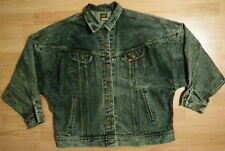 Vintage Lee Riders Acid Washed Med Ladies Blue Jean Jacket Coat Denim Trucker