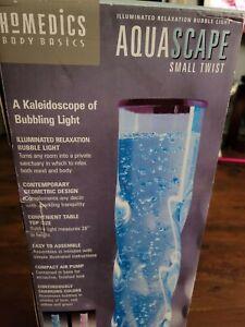 NEW HOMEDICS BODY BASICS AQUASCAPE TWIST SPIRAL KALEIDOSCOPE BUBBLING LIGHT LAMP