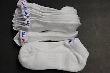 5 prs LOW ANKLE COTTON SOCKS 9-11 White Sports Cousion  ARCH SUPPORT I LOVE YOU