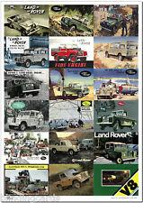 LAND ROVER SERIE I II & III - Retro ADS Stampa artistica - Station wagon DURO /
