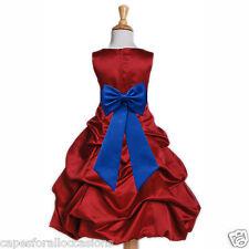 APPLE CHRISTMAS RED DRESS WEDDING BRIDESMAID FLOWER GIRL 2 4 5T 6 8 10 12 14 16