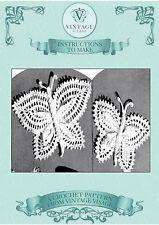 Vintage Crochet pattern-how per rendere simpatico poco FARFALLE PER PERNI FERMAGLI...