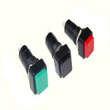 Square Momentary Push Buttons Black SPST 1A