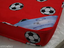3FT SINGLE ECONOMY CHEAP BUDGET MATTRESS  RED FOOTBALL BRAND NEW