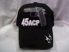 45acp 45mm Semi Automatic Pistol Gun Ball Cap Hat in Black New H16