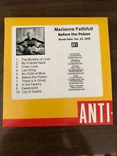 Rare Promo Advance Marianne Faithfull Before The Poison CD
