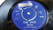 THE WHO    SUBSTITUTE c/w INSTANT PARTY   REACTION LABEL 1966  sought after