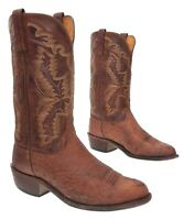 Vintage LUCCHESE Cowboy Boots 8 EE Mens EXOTIC Ostrich Western Rodeo Boots USA