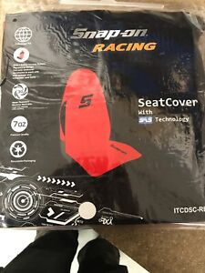 Snap On Seat Cover RACING Car / Van SAS Tech Universal Fit  RED
