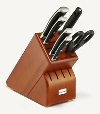 Wusthof Classic Ikon Seven Piece Block Knife Set Cherry 8347-2 NEW in Box