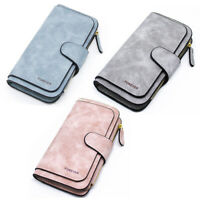 Damen Brieftasche Reißverschluss Lange Geldbörse Damen Brieftasche Triple R O7K5
