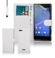 Fundas con tapa Para Sony Xperia T color principal blanco para teléfonos móviles y PDAs
