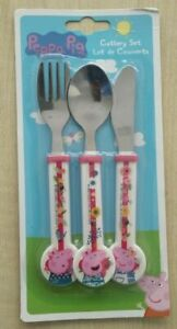 Peppa Pig 3 Pieces Cutlery Set Pink