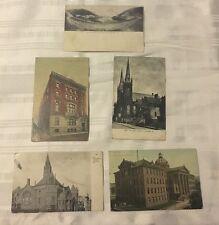 JE009 Vintage LOT of 5 Postcards Elk's Home Church High School Altoona Pa